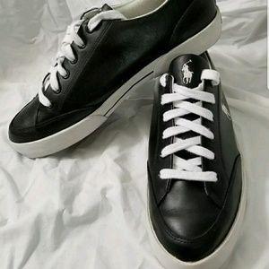 Mens Polo Ralph Lauren Black Leather Shoes 12M